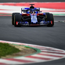 MONTMELO, SPAIN - FEBRUARY 26:  Brendon Hartley of New Zealand driving the (28) Scuderia Toro Rosso STR13 Honda on track during day one of F1 Winter Testing at Circuit de Catalunya on February 26, 2018 in Montmelo, Spain.  (Photo by Patrik Lundin/Getty Images) // Getty Images / Red Bull Content Pool  // AP-1UVWHERE92111 // Usage for editorial use only // Please go to www.redbullcontentpool.com for further information. //