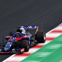 MONTMELO, SPAIN - FEBRUARY 26:  Brendon Hartley of New Zealand driving the (28) Scuderia Toro Rosso STR13 Honda on track during day one of F1 Winter Testing at Circuit de Catalunya on February 26, 2018 in Montmelo, Spain.  (Photo by Patrik Lundin/Getty Images) // Getty Images / Red Bull Content Pool  // AP-1UVWHF9W92111 // Usage for editorial use only // Please go to www.redbullcontentpool.com for further information. //
