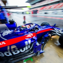 MONTMELO, SPAIN - FEBRUARY 28:  Brendon Hartley of Scuderia Toro Rosso and New Zealand during day three of F1 Winter Testing at Circuit de Catalunya on February 28, 2018 in Montmelo, Spain.  (Photo by Peter Fox/Getty Images) // Getty Images / Red Bull Content Pool  // AP-1UWJ6ZMM91W11 // Usage for editorial use only // Please go to www.redbullcontentpool.com for further information. //