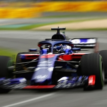 MELBOURNE, AUSTRALIA - MARCH 24: Brendon Hartley of New Zealand driving the (28) Scuderia Toro Rosso STR13 Honda on track during final practice for the Australian Formula One Grand Prix at Albert Park on March 24, 2018 in Melbourne, Australia.  (Photo by Robert Cianflone/Getty Images) // Getty Images / Red Bull Content Pool  // AP-1V5494RMW1W11 // Usage for editorial use only // Please go to www.redbullcontentpool.com for further information. //