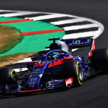 NORTHAMPTON, ENGLAND - JULY 06: Brendon Hartley of New Zealand driving the (28) Scuderia Toro Rosso STR13 Honda on track during practice for the Formula One Grand Prix of Great Britain at Silverstone on July 6, 2018 in Northampton, England.  (Photo by Mark Thompson/Getty Images) // Getty Images / Red Bull Content Pool  // AP-1W6NN68ED1W11 // Usage for editorial use only // Please go to www.redbullcontentpool.com for further information. //