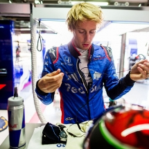 HOCKENHEIM, GERMANY - JULY 20:  Brendon Hartley of Scuderia Toro Rosso and New Zealand during practice for the Formula One Grand Prix of Germany at Hockenheimring on July 20, 2018 in Hockenheim, Germany.  (Photo by Peter Fox/Getty Images) // Getty Images / Red Bull Content Pool  // AP-1WB6VT8ES2111 // Usage for editorial use only // Please go to www.redbullcontentpool.com for further information. //