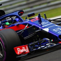 BUDAPEST, HUNGARY - JULY 27: Brendon Hartley of New Zealand driving the (28) Scuderia Toro Rosso STR13 Honda on track during practice for the Formula One Grand Prix of Hungary at Hungaroring on July 27, 2018 in Budapest, Hungary.  (Photo by Mark Thompson/Getty Images) // Getty Images / Red Bull Content Pool  // AP-1WDGPVUZ52511 // Usage for editorial use only // Please go to www.redbullcontentpool.com for further information. //