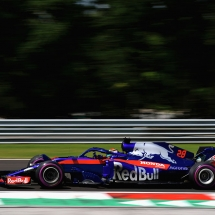 BUDAPEST, HUNGARY - JULY 28: Brendon Hartley of New Zealand driving the (28) Scuderia Toro Rosso STR13 Honda on track during final practice for the Formula One Grand Prix of Hungary at Hungaroring on July 28, 2018 in Budapest, Hungary.  (Photo by Mark Thompson/Getty Images) // Getty Images / Red Bull Content Pool  // AP-1WDSA1DNH1W11 // Usage for editorial use only // Please go to www.redbullcontentpool.com for further information. //