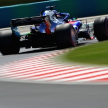BUDAPEST, HUNGARY - JULY 28:  Brendon Hartley of New Zealand driving the (28) Scuderia Toro Rosso STR13 Honda on track during final practice for the Formula One Grand Prix of Hungary at Hungaroring on July 28, 2018 in Budapest, Hungary.  (Photo by Mark Thompson/Getty Images) // Getty Images / Red Bull Content Pool  // AP-1WDSF2VSD2511 // Usage for editorial use only // Please go to www.redbullcontentpool.com for further information. //