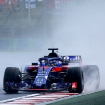 BUDAPEST, HUNGARY - JULY 28: Brendon Hartley of New Zealand driving the (28) Scuderia Toro Rosso STR13 Honda on track during qualifying for the Formula One Grand Prix of Hungary at Hungaroring on July 28, 2018 in Budapest, Hungary.  (Photo by Charles Coates/Getty Images) // Getty Images / Red Bull Content Pool  // AP-1WDU6EXP51W11 // Usage for editorial use only // Please go to www.redbullcontentpool.com for further information. //