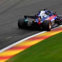 SPA, BELGIUM - AUGUST 24: Brendon Hartley of New Zealand driving the (28) Scuderia Toro Rosso STR13 Honda on track during practice for the Formula One Grand Prix of Belgium at Circuit de Spa-Francorchamps on August 24, 2018 in Spa, Belgium.  (Photo by Dan Mullan/Getty Images) // Getty Images / Red Bull Content Pool  // AP-1WPGF2ZE51W11 // Usage for editorial use only // Please go to www.redbullcontentpool.com for further information. //