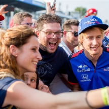 MONZA, ITALY - AUGUST 30:  Brendon Hartley of Scuderia Toro Rosso and New Zealand  during previews ahead of the Formula One Grand Prix of Italy at Autodromo di Monza on August 30, 2018 in Monza, Italy.  (Photo by Peter Fox/Getty Images) // Getty Images / Red Bull Content Pool  // AP-1WRFHC8PH2111 // Usage for editorial use only // Please go to www.redbullcontentpool.com for further information. //