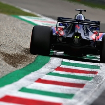 MONZA, ITALY - AUGUST 31: Brendon Hartley of New Zealand driving the (28) Scuderia Toro Rosso STR13 Honda on track during practice for the Formula One Grand Prix of Italy at Autodromo di Monza on August 31, 2018 in Monza, Italy.  (Photo by Charles Coates/Getty Images) // Getty Images / Red Bull Content Pool  // AP-1WRRNDKVW2511 // Usage for editorial use only // Please go to www.redbullcontentpool.com for further information. //