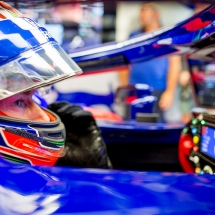 MONZA, ITALY - AUGUST 31:  Brendon Hartley of Scuderia Toro Rosso and New Zealand during practice for the Formula One Grand Prix of Italy at Autodromo di Monza on August 31, 2018 in Monza, Italy.  (Photo by Peter Fox/Getty Images) // Getty Images / Red Bull Content Pool  // AP-1WRSPCKH91W11 // Usage for editorial use only // Please go to www.redbullcontentpool.com for further information. //