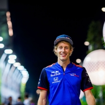SINGAPORE - SEPTEMBER 14:  Brendon Hartley of Scuderia Toro Rosso and New Zealand  during practice for the Formula One Grand Prix of Singapore at Marina Bay Street Circuit on September 14, 2018 in Singapore.  (Photo by Peter Fox/Getty Images) // Getty Images / Red Bull Content Pool  // AP-1WWA2K4DD1W11 // Usage for editorial use only // Please go to www.redbullcontentpool.com for further information. //