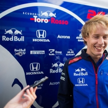 SOCHI, RUSSIA - SEPTEMBER 27:  Brendon Hartley of Scuderia Toro Rosso and New Zealand during previews ahead of the Formula One Grand Prix of Russia at Sochi Autodrom on September 27, 2018  (Photo by Peter Fox/Getty Images) // Getty Images / Red Bull Content Pool  // AP-1X1FHJVU11W11 // Usage for editorial use only // Please go to www.redbullcontentpool.com for further information. //