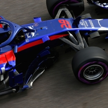 SOCHI, RUSSIA - SEPTEMBER 28:  Brendon Hartley of New Zealand driving the (28) Scuderia Toro Rosso STR13 Honda on track during practice for the Formula One Grand Prix of Russia at Sochi Autodrom on September 28, 2018 in Sochi, Russia.  (Photo by Charles Coates/Getty Images) // Getty Images / Red Bull Content Pool  // AP-1X1R1VUE12511 // Usage for editorial use only // Please go to www.redbullcontentpool.com for further information. //