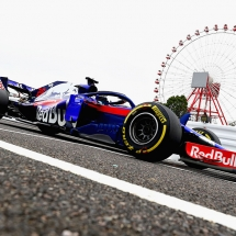 SUZUKA, JAPAN - OCTOBER 05: Brendon Hartley of New Zealand driving the (28) Scuderia Toro Rosso STR13 Honda on track during practice for the Formula One Grand Prix of Japan at Suzuka Circuit on October 5, 2018 in Suzuka.  (Photo by Clive Rose/Getty Images) // Getty Images / Red Bull Content Pool  // AP-1X3UYBHC11W11 // Usage for editorial use only // Please go to www.redbullcontentpool.com for further information. //
