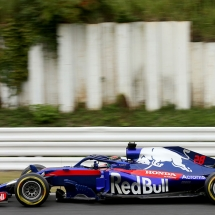 SUZUKA, JAPAN - OCTOBER 05: Brendon Hartley of New Zealand driving the (28) Scuderia Toro Rosso STR13 Honda on track during practice for the Formula One Grand Prix of Japan at Suzuka Circuit on October 5, 2018 in Suzuka.  (Photo by Charles Coates/Getty Images) // Getty Images / Red Bull Content Pool  // AP-1X3Y6BGW52511 // Usage for editorial use only // Please go to www.redbullcontentpool.com for further information. //