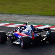 SUZUKA, JAPAN - OCTOBER 06: Brendon Hartley of New Zealand driving the (28) Scuderia Toro Rosso STR13 Honda on track during qualifying for the Formula One Grand Prix of Japan at Suzuka Circuit on October 6, 2018 in Suzuka.  (Photo by Clive Mason/Getty Images) // Getty Images / Red Bull Content Pool  // AP-1X4893KBW1W11 // Usage for editorial use only // Please go to www.redbullcontentpool.com for further information. //