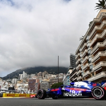 MONTE-CARLO, MONACO - MAY 24: Brendon Hartley of New Zealand driving the (28) Scuderia Toro Rosso STR13 Honda on track during practice for the Monaco Formula One Grand Prix at Circuit de Monaco on May 24, 2018 in Monte-Carlo, Monaco.  (Photo by Dan Mullan/Getty Images) // Getty Images / Red Bull Content Pool  // AP-1VRUBDKK12111 // Usage for editorial use only // Please go to www.redbullcontentpool.com for further information. //