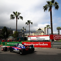 MONTE-CARLO, MONACO - MAY 24: Brendon Hartley of New Zealand driving the (28) Scuderia Toro Rosso STR13 Honda on track during practice for the Monaco Formula One Grand Prix at Circuit de Monaco on May 24, 2018 in Monte-Carlo, Monaco.  (Photo by Mark Thompson/Getty Images) // Getty Images / Red Bull Content Pool  // AP-1VRVYJVDD2111 // Usage for editorial use only // Please go to www.redbullcontentpool.com for further information. //