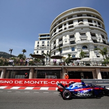 MONTE-CARLO, MONACO - MAY 26: Brendon Hartley of New Zealand driving the (28) Scuderia Toro Rosso STR13 Honda on track during final practice for the Monaco Formula One Grand Prix at Circuit de Monaco on May 26, 2018 in Monte-Carlo, Monaco.  (Photo by Mark Thompson/Getty Images) // Getty Images / Red Bull Content Pool  // AP-1VSH37XFD2111 // Usage for editorial use only // Please go to www.redbullcontentpool.com for further information. //