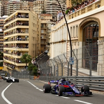 MONTE-CARLO, MONACO - MAY 27: Brendon Hartley of New Zealand driving the (28) Scuderia Toro Rosso STR13 Honda on track during the Monaco Formula One Grand Prix at Circuit de Monaco on May 27, 2018 in Monte-Carlo, Monaco.  (Photo by Dan Istitene/Getty Images) // Getty Images / Red Bull Content Pool  // AP-1VSUPEAK91W11 // Usage for editorial use only // Please go to www.redbullcontentpool.com for further information. //