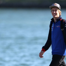 MONTREAL, QC - JUNE 08:  Brendon Hartley of New Zealand and Scuderia Toro Rosso arrives at the circuit before practice for the Canadian Formula One Grand Prix at Circuit Gilles Villeneuve on June 8, 2018 in Montreal, Canada.  (Photo by Charles Coates/Getty Images) // Getty Images / Red Bull Content Pool  // AP-1VWQCU3U92111 // Usage for editorial use only // Please go to www.redbullcontentpool.com for further information. //