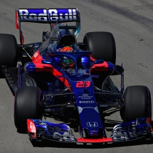 MONTREAL, QC - JUNE 08: Brendon Hartley of New Zealand driving the (28) Scuderia Toro Rosso STR13 Honda on track during practice for the Canadian Formula One Grand Prix at Circuit Gilles Villeneuve on June 8, 2018 in Montreal, Canada.  (Photo by Dan Istitene/Getty Images) // Getty Images / Red Bull Content Pool  // AP-1VWRTKTWN2111 // Usage for editorial use only // Please go to www.redbullcontentpool.com for further information. //