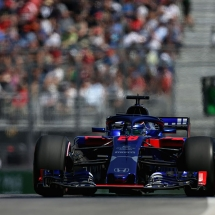 MONTREAL, QC - JUNE 08: Brendon Hartley of New Zealand driving the (28) Scuderia Toro Rosso STR13 Honda on track during practice for the Canadian Formula One Grand Prix at Circuit Gilles Villeneuve on June 8, 2018 in Montreal, Canada.  (Photo by Charles Coates/Getty Images) // Getty Images / Red Bull Content Pool  // AP-1VWU7YVE91W11 // Usage for editorial use only // Please go to www.redbullcontentpool.com for further information. //