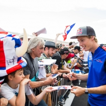 LE CASTELLET, FRANCE - JUNE 21:  Brendon Hartley of Scuderia Toro Rosso and New Zealand during previews ahead of the Formula One Grand Prix of France at Circuit Paul Ricard on June 21, 2018 in Le Castellet, France.  (Photo by Peter Fox/Getty Images) // Getty Images / Red Bull Content Pool  // AP-1W1XCC43S2111 // Usage for editorial use only // Please go to www.redbullcontentpool.com for further information. //