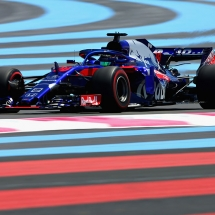 LE CASTELLET, FRANCE - JUNE 22: Brendon Hartley of New Zealand driving the (28) Scuderia Toro Rosso STR13 Honda on track during practice for the Formula One Grand Prix of France at Circuit Paul Ricard on June 22, 2018 in Le Castellet, France.  (Photo by Charles Coates/Getty Images) // Getty Images / Red Bull Content Pool  // AP-1W29W8EHN2111 // Usage for editorial use only // Please go to www.redbullcontentpool.com for further information. //