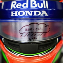 SPIELBERG, AUSTRIA - JUNE 29: The helmet of Brendon Hartley of New Zealand and Scuderia Toro Rosso is seen in the garage during practice for the Formula One Grand Prix of Austria at Red Bull Ring on June 29, 2018 in Spielberg, Austria.  (Photo by Peter Fox/Getty Images) // Getty Images / Red Bull Content Pool  // AP-1W4DNR9DW1W11 // Usage for editorial use only // Please go to www.redbullcontentpool.com for further information. //