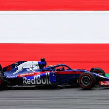 SPIELBERG, AUSTRIA - JUNE 29: Brendon Hartley of New Zealand driving the (28) Scuderia Toro Rosso STR13 Honda on track during practice for the Formula One Grand Prix of Austria at Red Bull Ring on June 29, 2018 in Spielberg, Austria.  (Photo by Charles Coates/Getty Images) // Getty Images / Red Bull Content Pool  // AP-1W4H53FF92111 // Usage for editorial use only // Please go to www.redbullcontentpool.com for further information. //