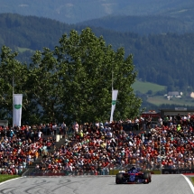 SPIELBERG, AUSTRIA - JULY 01:  Brendon Hartley of New Zealand driving the (28) Scuderia Toro Rosso STR13 Honda on track during the Formula One Grand Prix of Austria at Red Bull Ring on July 1, 2018 in Spielberg, Austria.  (Photo by Mark Thompson/Getty Images) // Getty Images / Red Bull Content Pool  // AP-1W558JVAW2111 // Usage for editorial use only // Please go to www.redbullcontentpool.com for further information. //
